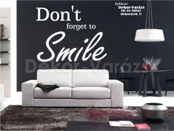 DONT FORGET TO SMILE falmatrica 24.