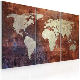 Kép - Rusty map of the World - triptych