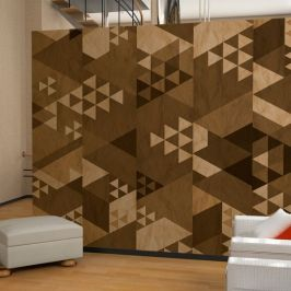 Fotótapéta - Brown patchwork (50x1000 cm)