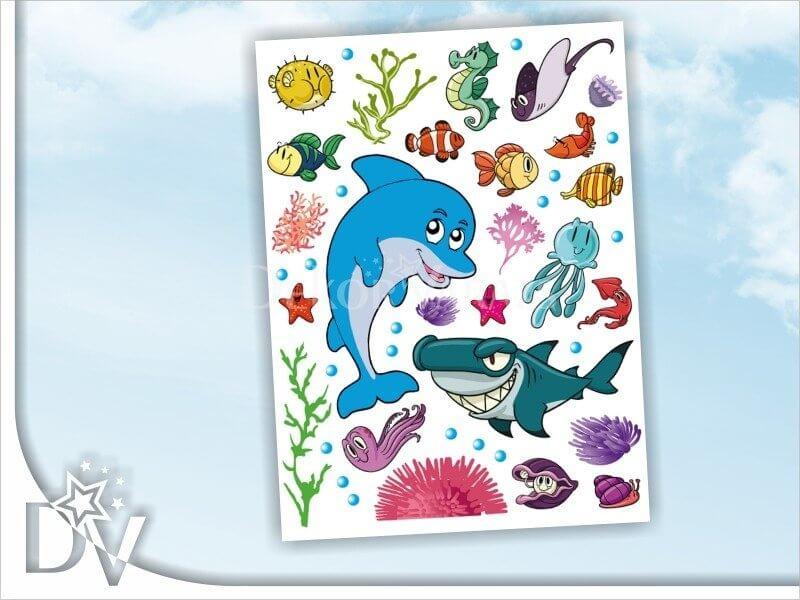 A tenger világa gyerekszoba falmatrica 80. 80.Tengeri,K0822,0823 - dekor-varazs.hu webáruház